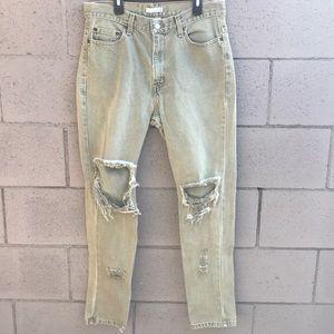 Men's olive green jeans